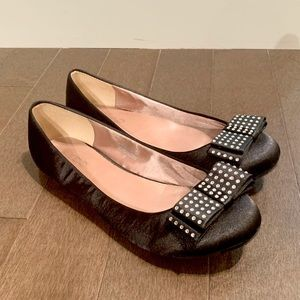 Aldo | Black Ballet Flats with Sparkly Bow
